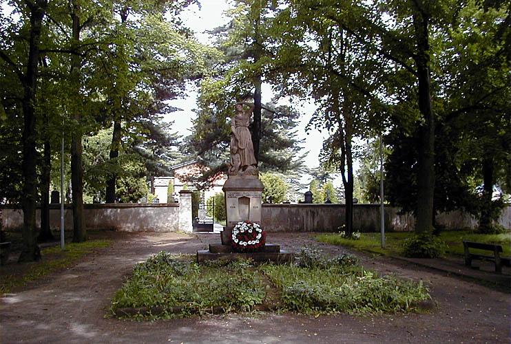 Pomník obětem I. světové války z r. 1921 foto: RNDr. Aleš Střecha